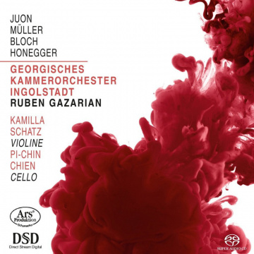 CD Cover: Juon Müller Bloch Honegger, Swiss Made, Georgisches Kammerorchester Ingolstadt