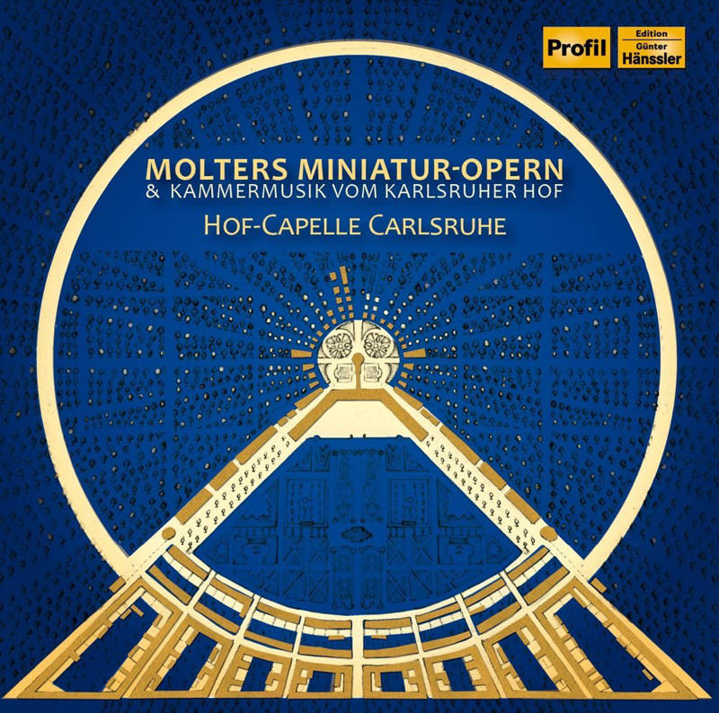 "CD Cover Hof-Capelle Carlsruhe ""Molters Miniatur-Opern"""