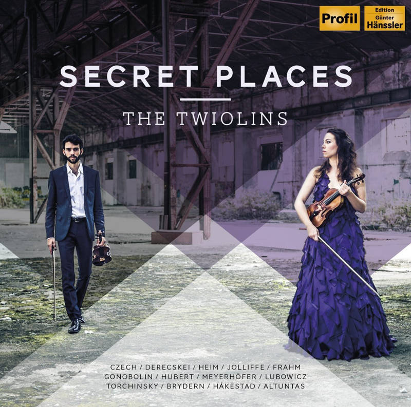 "CD Cover The Twiolins ""Secret Places"""