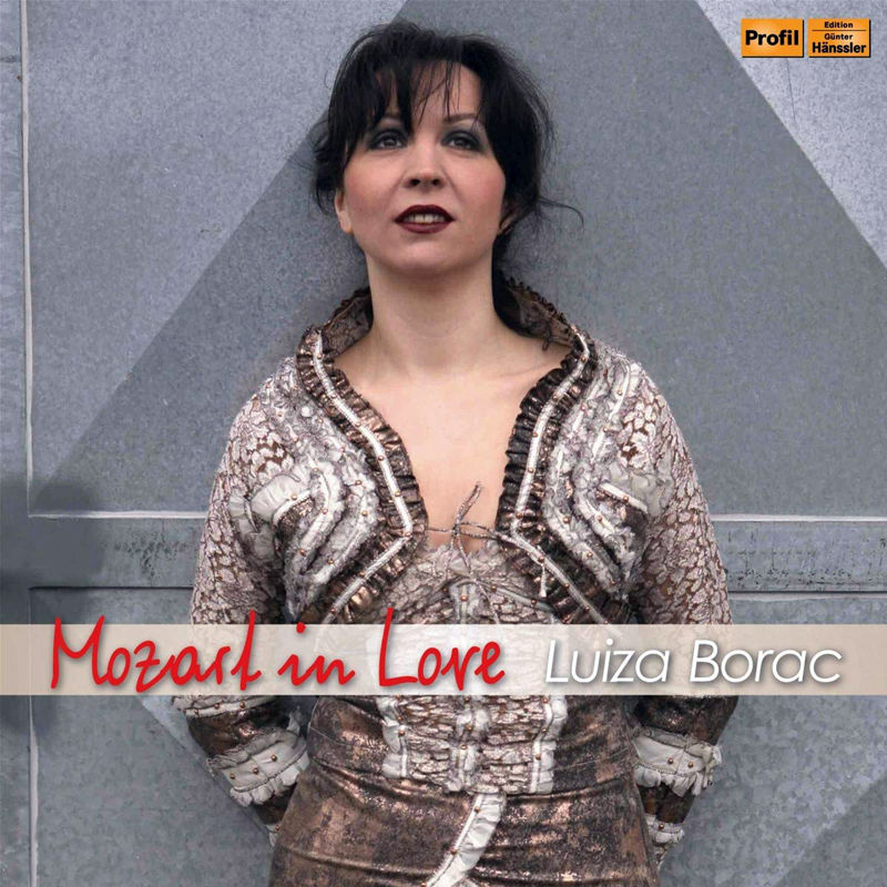 "Luiza Borac ""Mozart in Love"" CD Cover"
